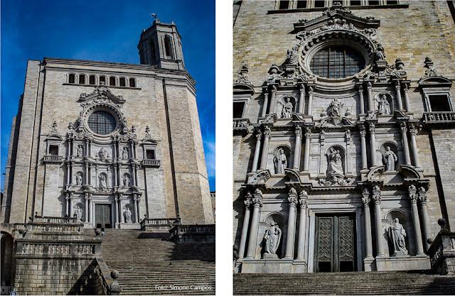 Fachada barroca da Catedral de Girona
