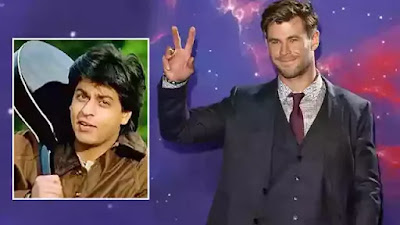Chris Hemsworth Mouthing Shah Rukh Khan Iconic DDLJ Dialogue