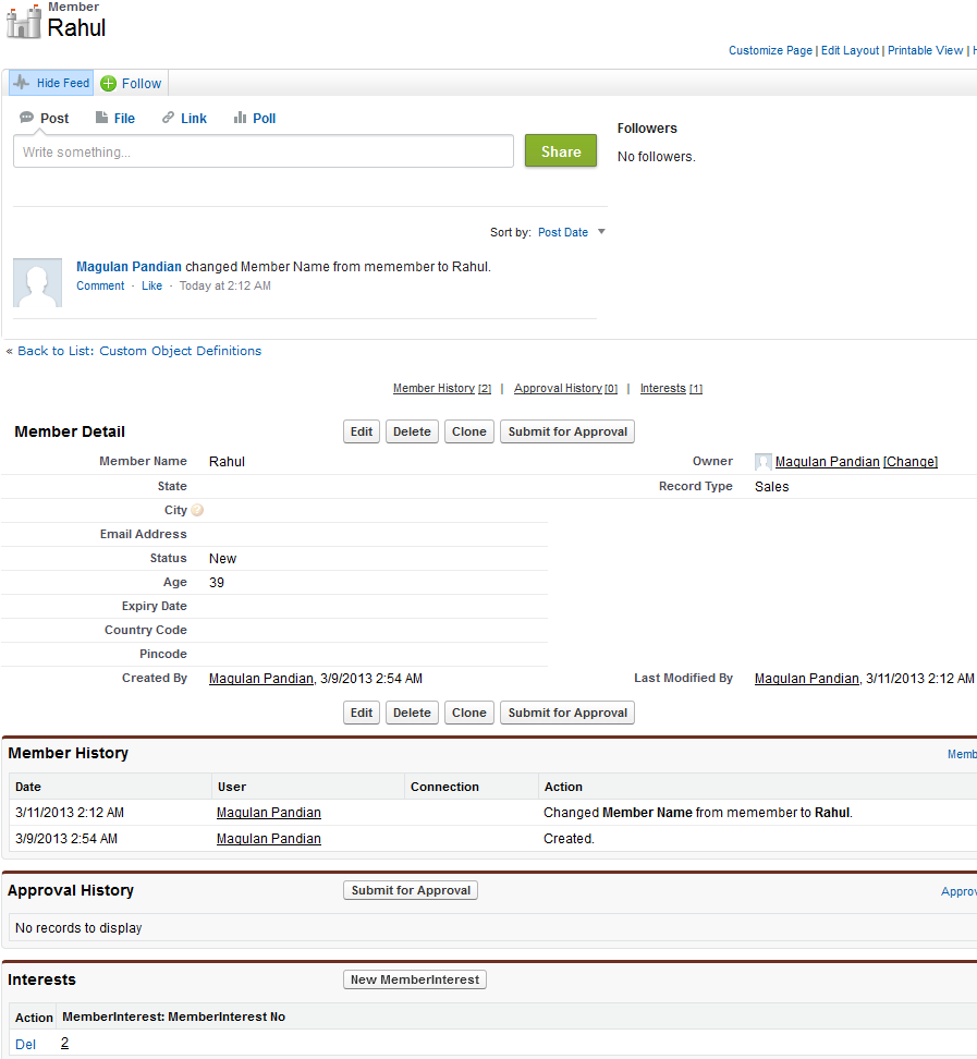 use of master detail relationship in salesforce