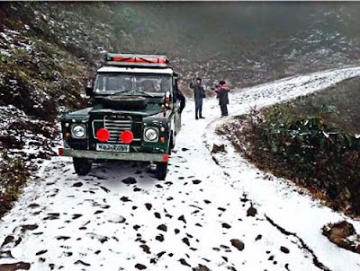 Sandakphu witnessed season's first snowfall in Darjeeling
