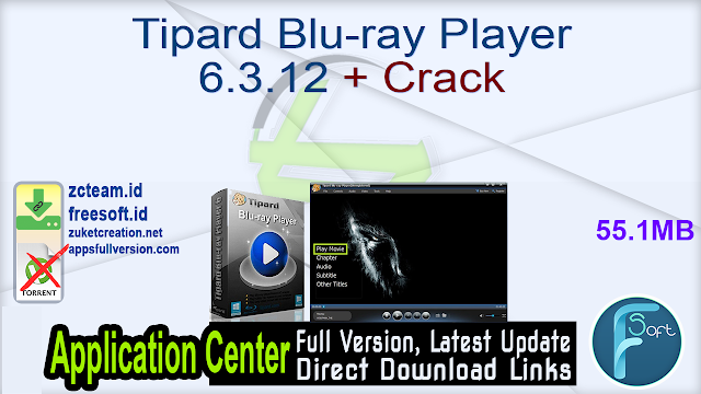 Tipard Blu-ray Player 6.3.12 + Crack