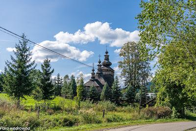 Cerkiew w Skwirtnym z oddali