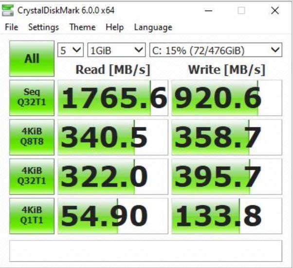Benchmark CrystalDiskMark Asus ZenBook Duo UX481