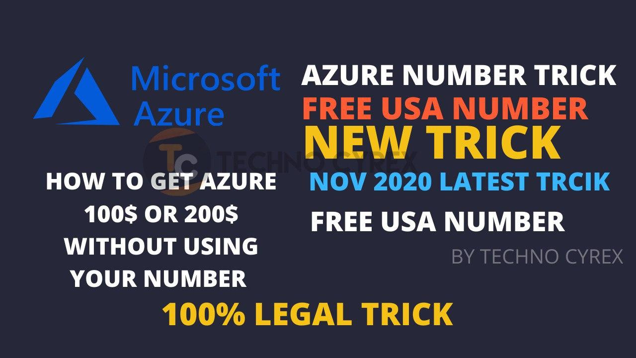 How To Get Azure 100 With Number Trick And Edu Emails Create Azure Rdp For Free New Trick Nov 2020 By Techno Cyrex