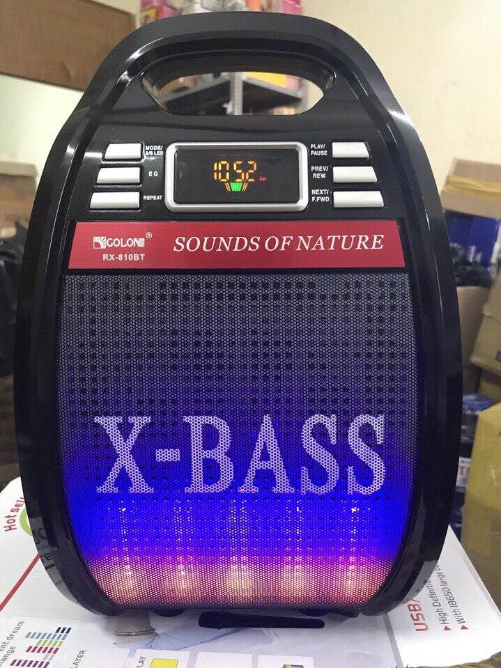 620k - Loa bluetooth karaoke XBASS tặng kèm micro không dây có đèn led giá sỉ và lẻ rẻ nhất