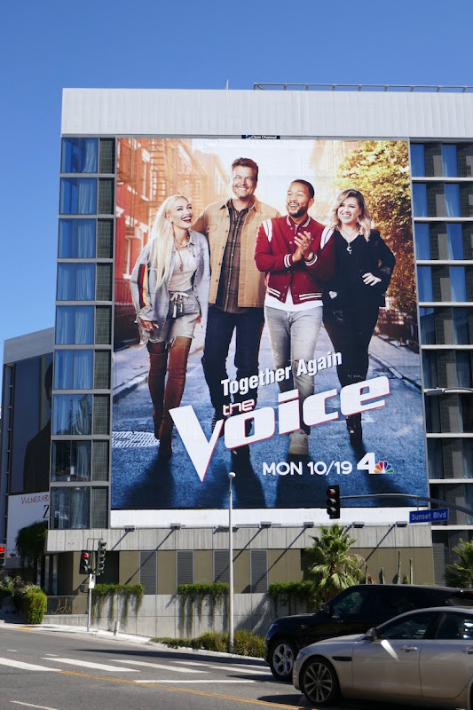 Voice season 19 giant billboard
