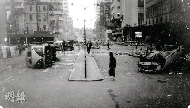 Hiện trường tan nát sau những cuộc đánh bom ở Hong Kong.