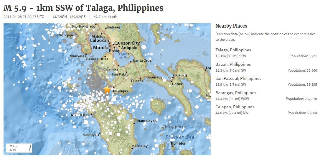 Magnitude 5.9 USGS