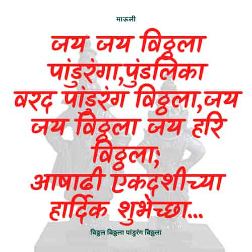Ashadi Ekadashi Status in Marathi