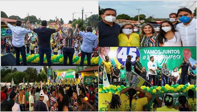 CONVENÇÃO NA RAPOSA:Senador, Deputado Federal e lideranças politicas locais oficializam o nome de Ocileia para prefeita