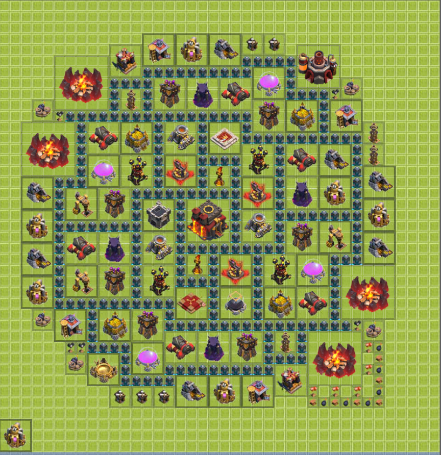 Clash of Clans Defensive Base Layout Design [Town Hall Level 10]  Web