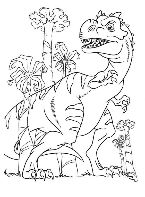 Dinosaurs coloring pages 34