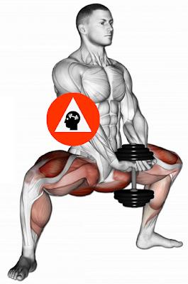 exercice musculation sumo squat haltère