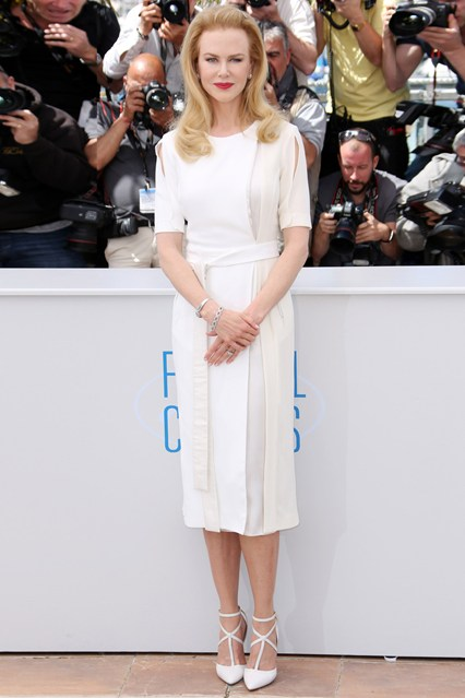Nicole Kidman in a white Altuzarra dress at Cannes 2014