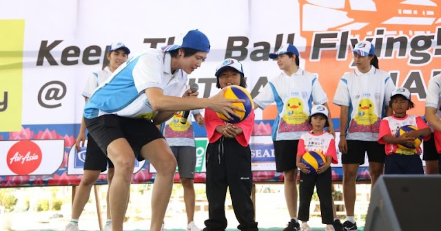 TVA mời các ngôi sao bóng chuyền Thái Lan tạo niềm đam mê cho thế hệ trẻ