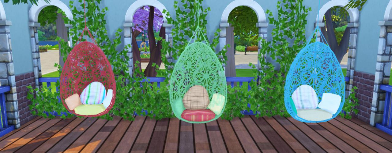 My Sims 4 Blog TS3 Bohemian Garden Hanging Chair by