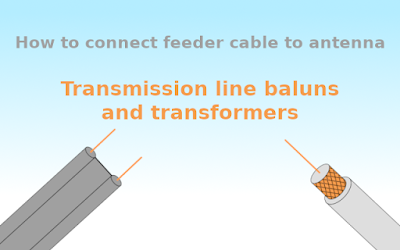 Transmission line baluns for VHF and UHF