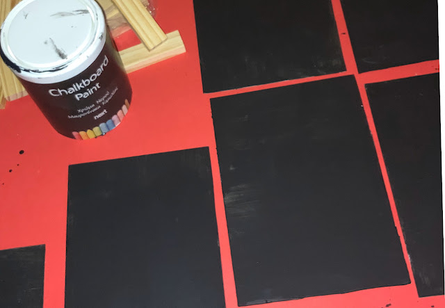 chalkboard jenga-preparing-boards