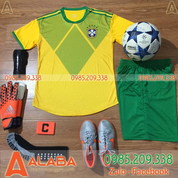 Áo bóng đá màu vàng xanh đẹp