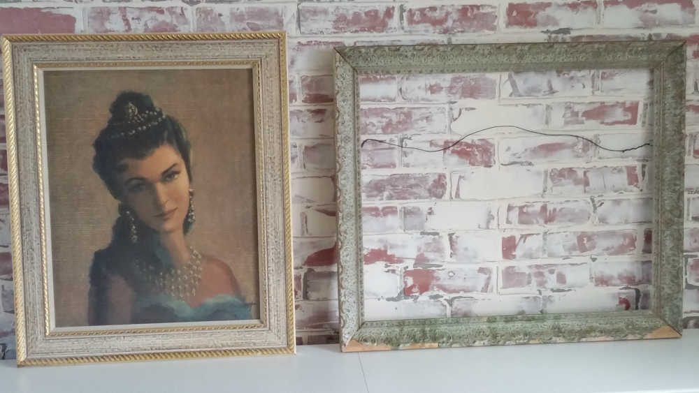 vintage picture and old frame