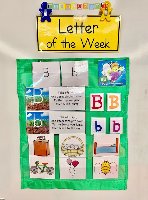 Letter of the Week Focus Wall:  Letter B