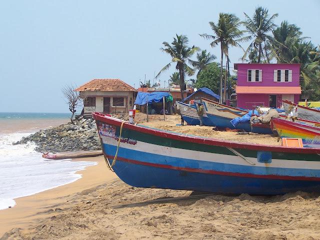 Plage de pêcheurs à Thiruvananthapuram