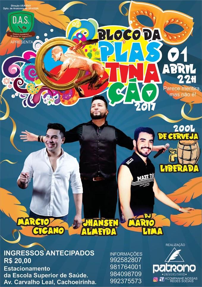 """""""Bloco da Plastinação"""" abre o mês de abril com carnaval fora de época"""