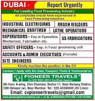 Food Processing Industry Job Vacancies