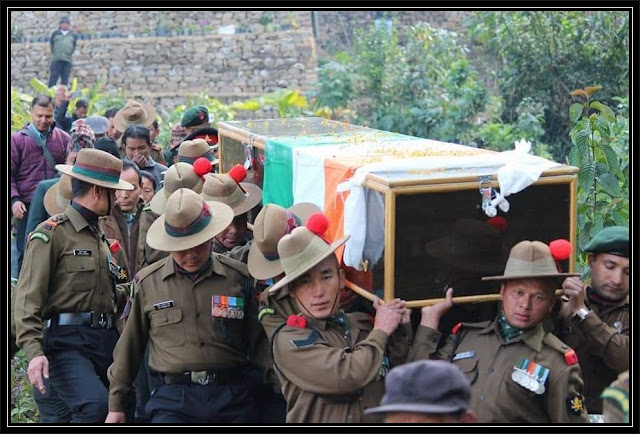 Tearful farewell to martyr Rifleman Jiwan Gurung