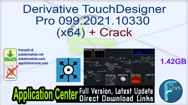 Derivative TouchDesigner Pro 099.2021.10330 (x64) + Crack
