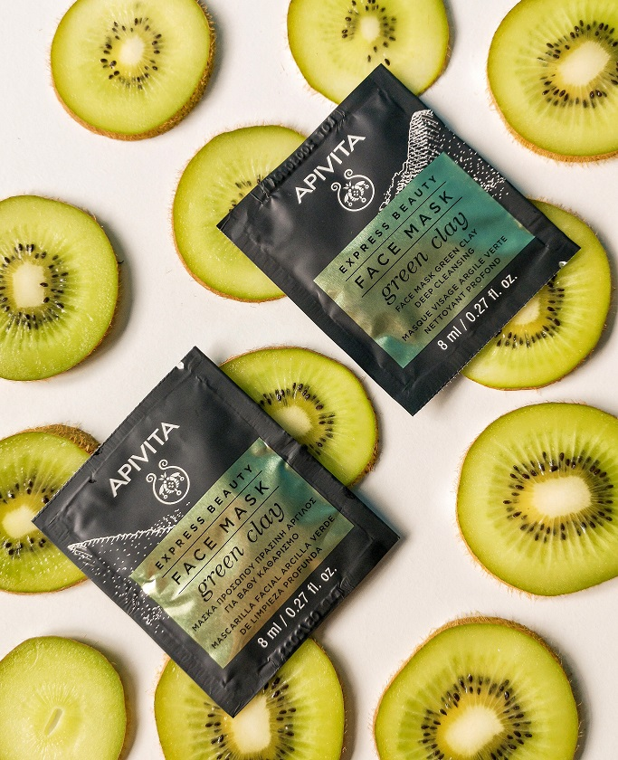 Apivita Express Beauty Face Mask Green Clay