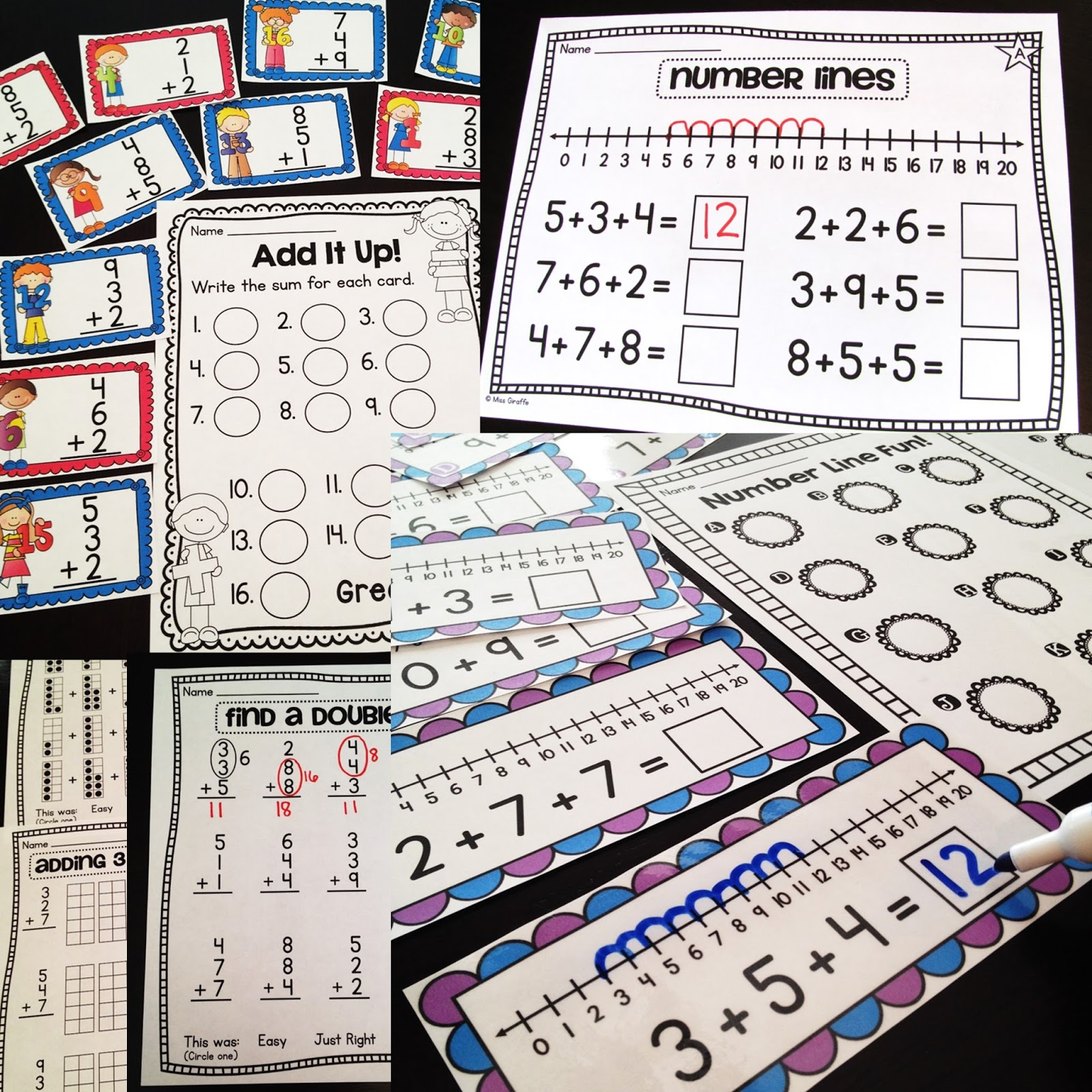 Miss Giraffe S Class First Grade Math Ideas For The