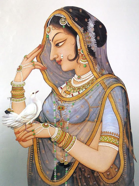Portrait of Rani Padmini.