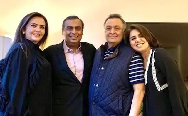 Neetu Kapoor, Neetu Kapoor Ambani Family, Rishi Kapoor, Rishi Kapoor Treatment Ambani Family, Ambani Family Rishi Kapoor, Mukesh Ambani, Neeta Ambani, Reliance