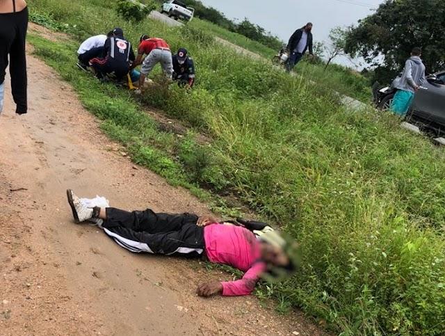 Mototaxista e passageira morrem vitímas de acidente na PE - 217 em Alagoinha, PE