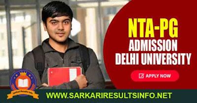Delhi University NTA PG Admission Apply Online