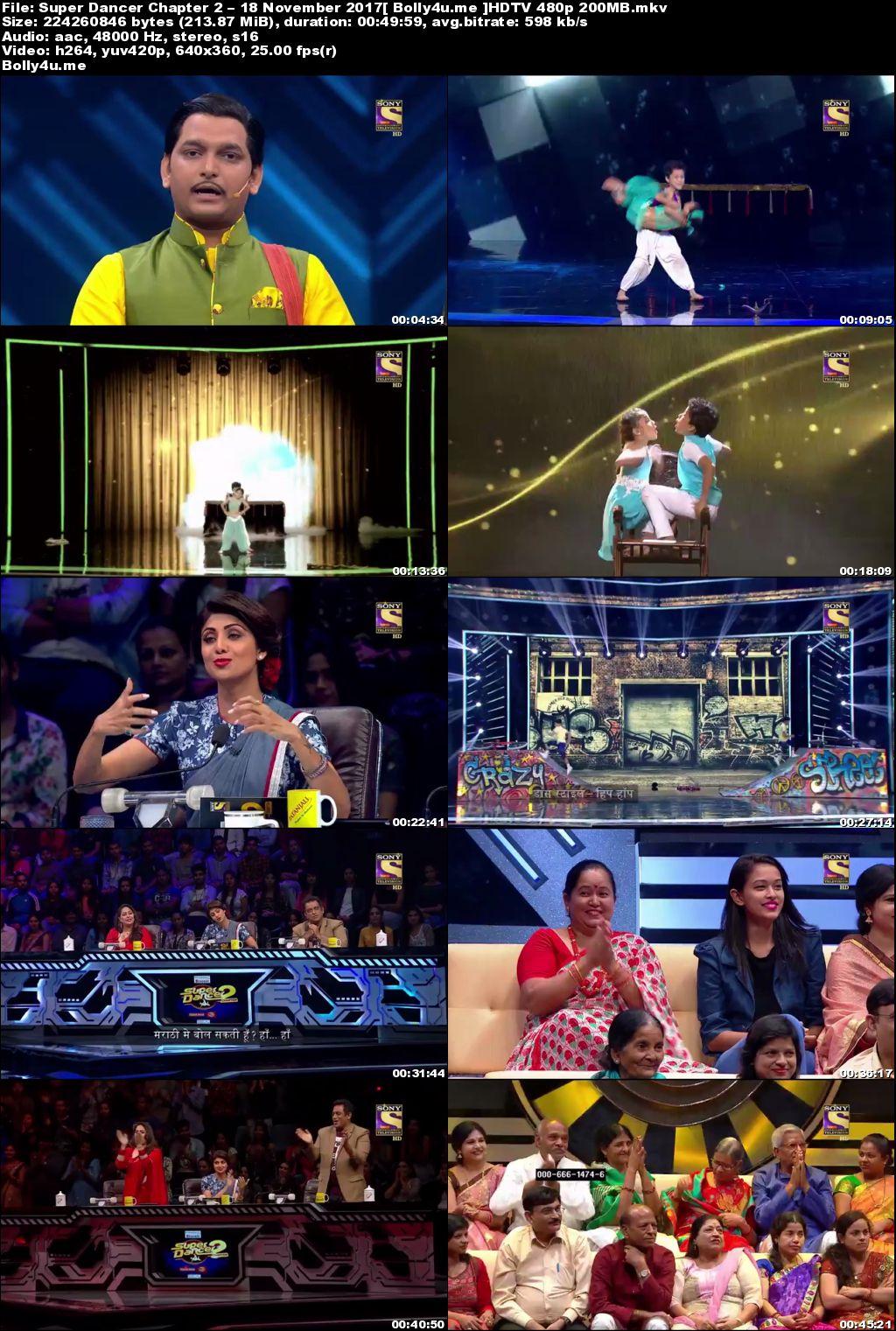 Super Dancer Chapter 2 HDTV 480p 200MB 18 November 2017 Download