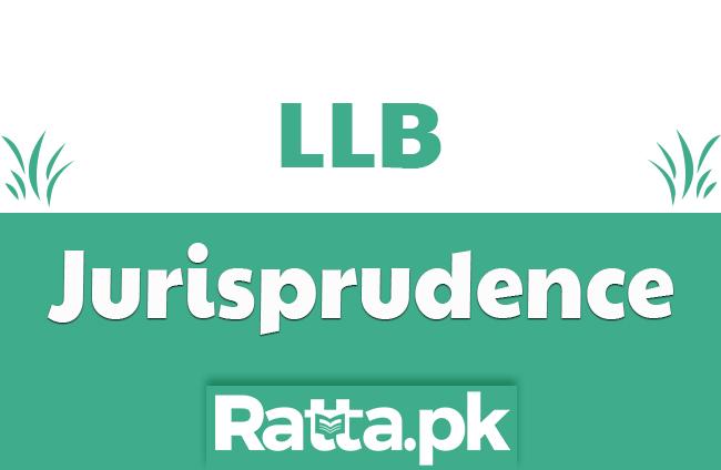 LLB Part 1 Jurisprudence Past paper 2019
