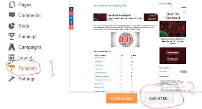 facebook button for blogger