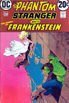 Phantom Stranger #26, Spawn of Frankenstein, Mike Kaluta cover