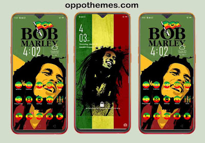 Bob Marley Rasta Theme For Oppo Android Smartphone