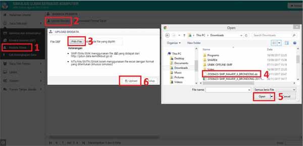Cara Input Data Calon UNBK Ke Web UBK