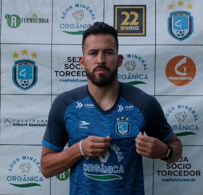 Ex-Goiás e Vila Nova, volante Leandro Bulhões inicia preparação com o Capital para o Campeonato do DF