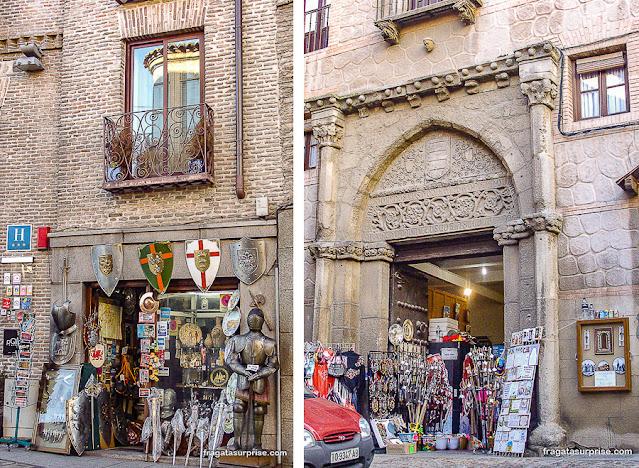 Lojas de souvenir em Toledo, Espanha
