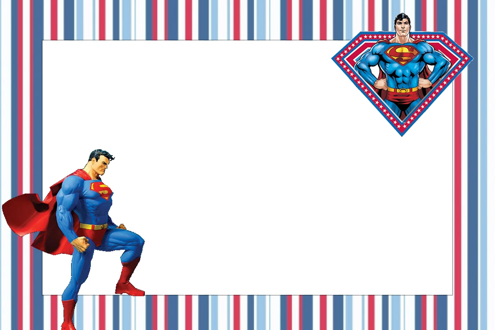 Superman Free Printable Invitations. - Oh My Fiesta! in english For Superman Birthday Card Template