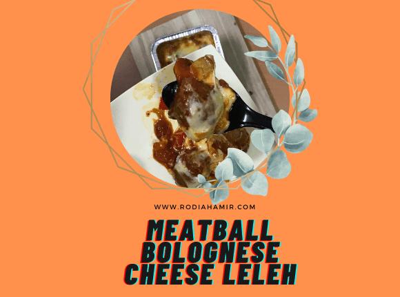 Resepi Meatball Bolognese