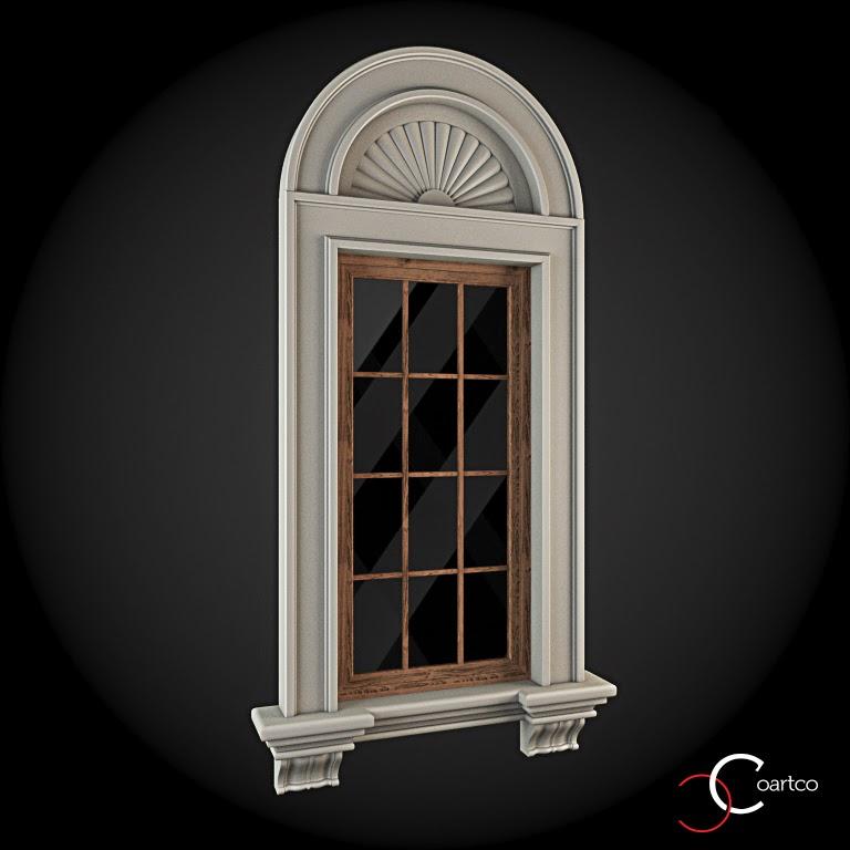 Ornamente Geamuri Exterior, Arcada fatade case cu profile decorative polistiren, profile fatada,  Model Cod: WIN-025