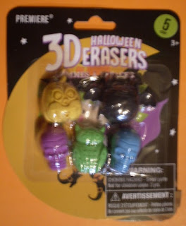 Front of 3D Halloween Erasers