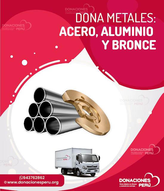 Dona Aluminio, Acero, Bronce