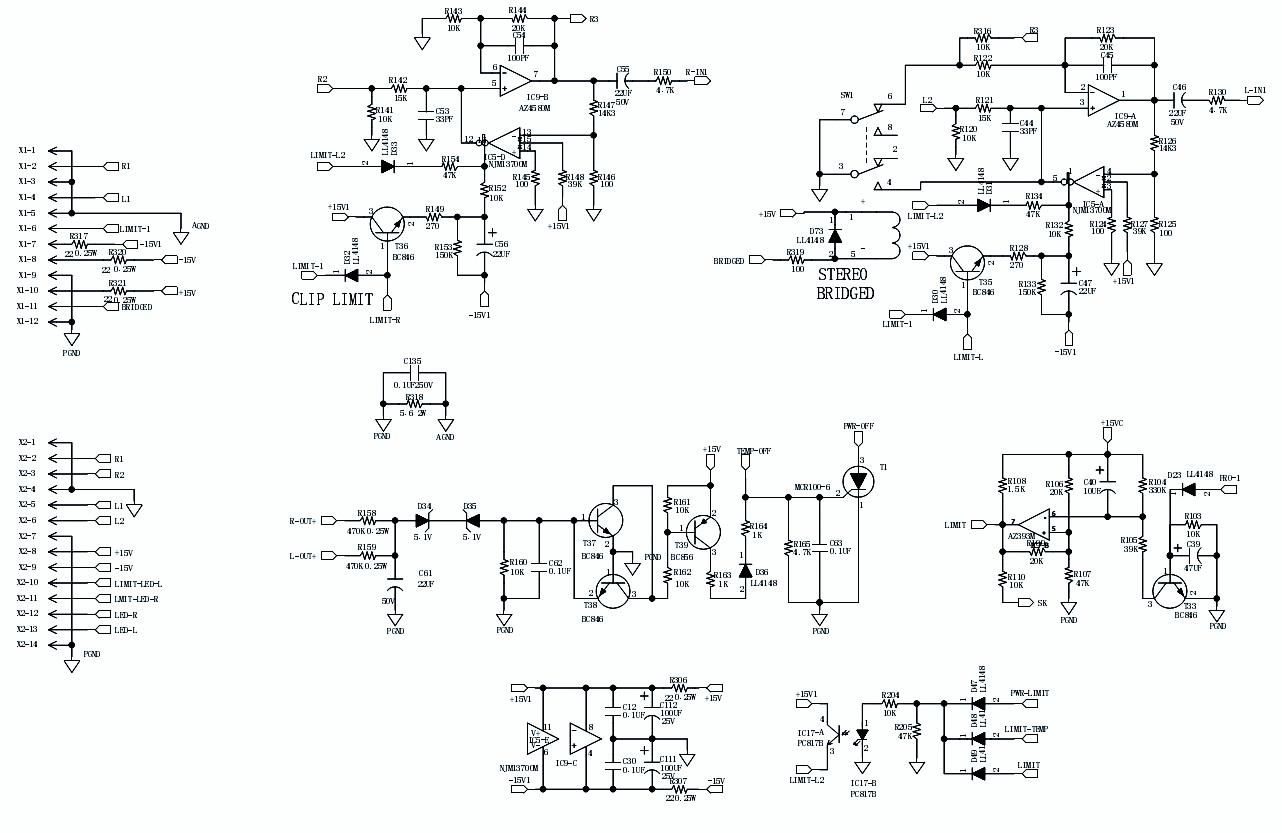 univox amp schematic behringer amp schematic behringer epx 3000 - amplifier circuit diagram   schematic ... #12